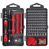 Justech Precision Screwdriver Set Professional Electronics Repair Tool Kit for Repairing PC MacBook Pad Laptop Watch Glasses Smartphone (Red 121 Kits) (Tamaño: Red 121 Kits)