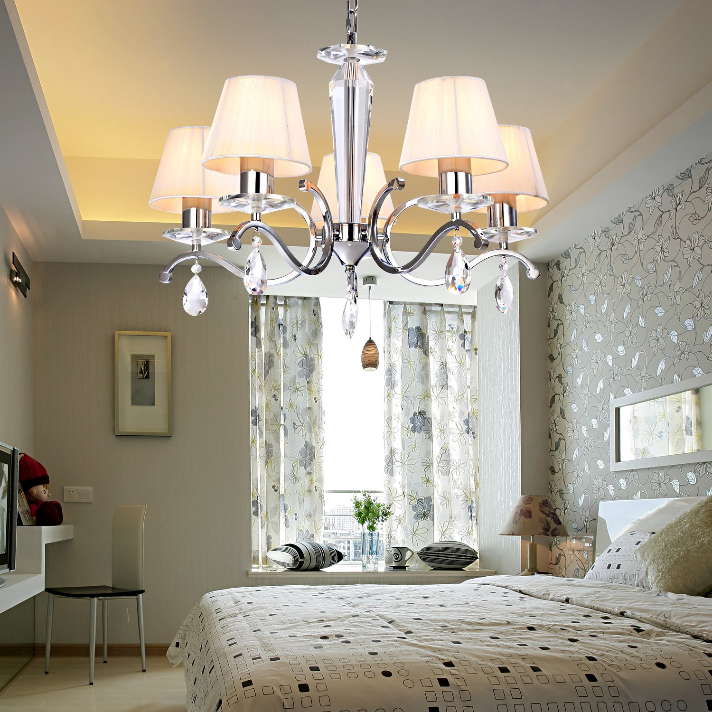 OOFAY LIGHT Moderne kreative Eisen- Esszimmer Wohnzimmer Schlafzimmer Kristall-Kronleuchter mit 5 Licht jetzt bestellen