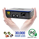 AAXA 4K1 LED Home Theater Projector, 30,000 Hour LEDs, Mercury Free, Native 4K UHD Resolution, Dual HDMI with HDCP 2.2, 1500 Lumens, E-Focus (Color: Gray)