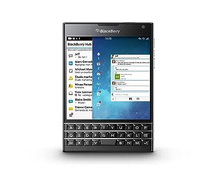 Blackberry Passport azerty Smartphone débloqué 4G (Ecran : 4,5 pouces 32 Go Simple SIM Blackberry) Noir