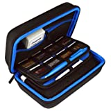 TAKECASE New 3DS XL and 2DS XL Carrying Case - Fits Wall Charger - Includes XL Stylus, 16 Game Storage, Hard Shell and Accessories Pocket (Dark Blue) (Color: Dark Blue)