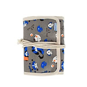 Teamoy Crochet Hook Case, Canvas Roll Bag Holder Organizer for Various Crochet Needles and Knitting Accessories, Compact and All-in-one. (Color: Cartoon Dogs, Tamaño: Canvas Crochet Hook Case)