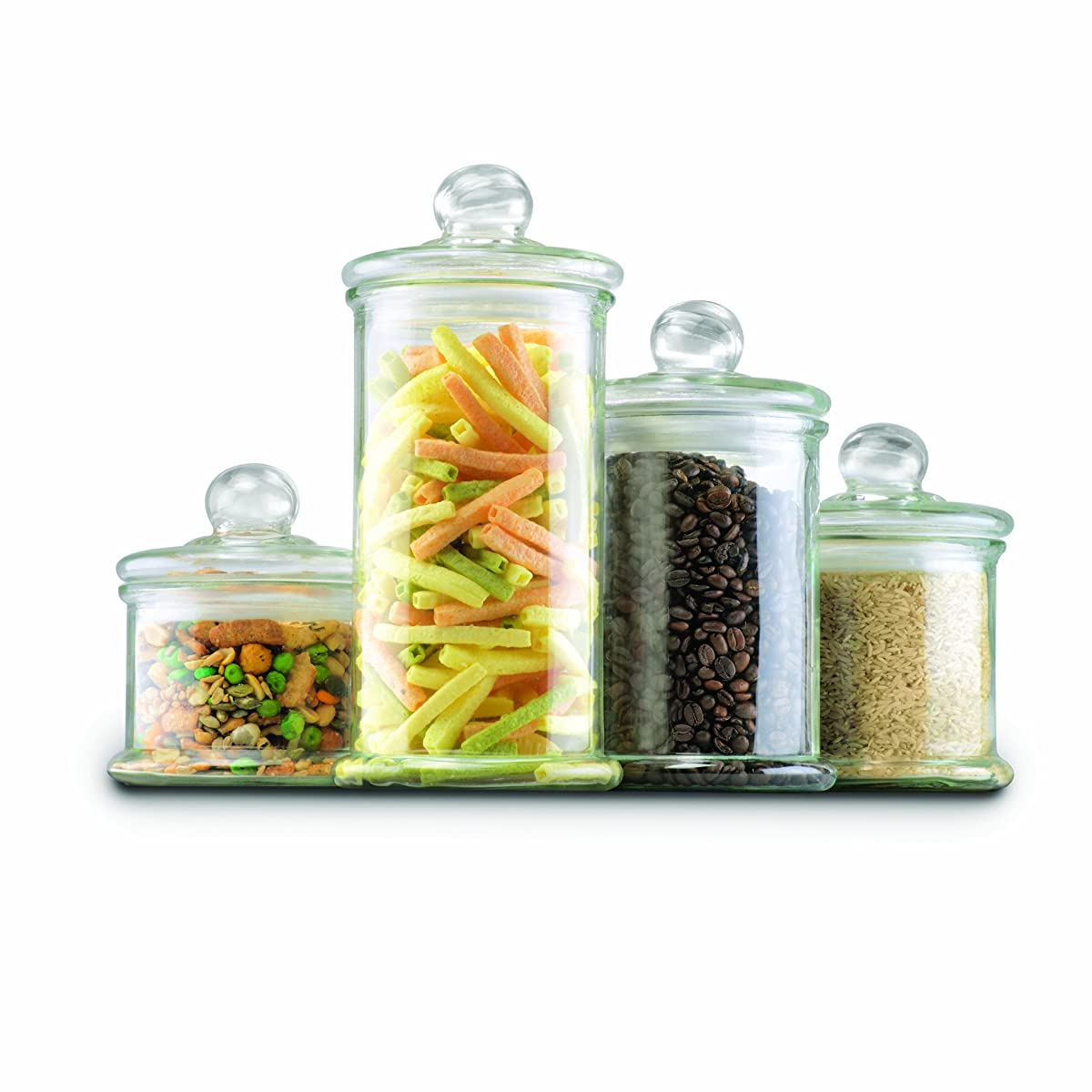 Anchor Hocking 4-Piece Round Canister Set with Ball Lid