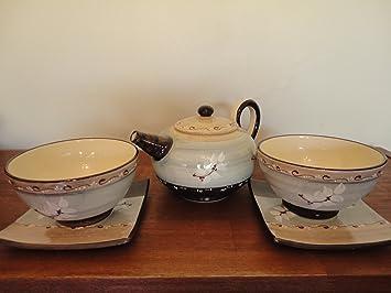 set petit dejeuner bols assiettes assiettes th i re gris c ramique vallauris. Black Bedroom Furniture Sets. Home Design Ideas