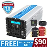 5000Watt Heavy Duty Power Inverter DC 12volt to AC 120volt with LCD Display 4 AC Sockets Dual USB Ports & Remote Control for Truck RV and Emergency (Color: Silver, Tamaño: 5000W/12V)