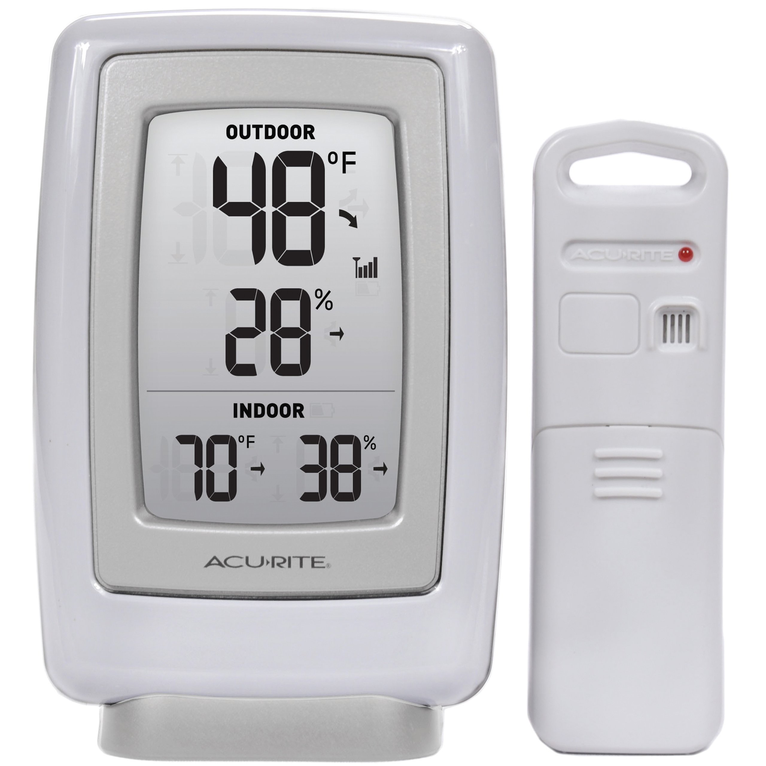 acurite 00611a3 wireless indoor outdoor thermometer and. Black Bedroom Furniture Sets. Home Design Ideas