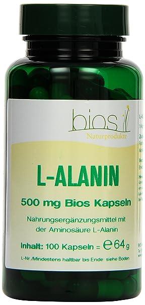 Bios l-Alanin 500 mg, 100 Kapseln, 1er Pack (1 x 64 g)