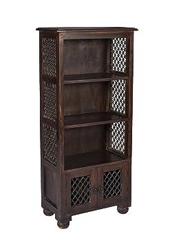Stylla London Legno massiccio Sheesham Jali lavoro indiano stile vintage scaffale armadio