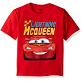 Disney Little Boys' Toddler Cars Lightning Mcqueen Toddler T-Shirt, Red, 3T (Color: Red, Tamaño: 3T)