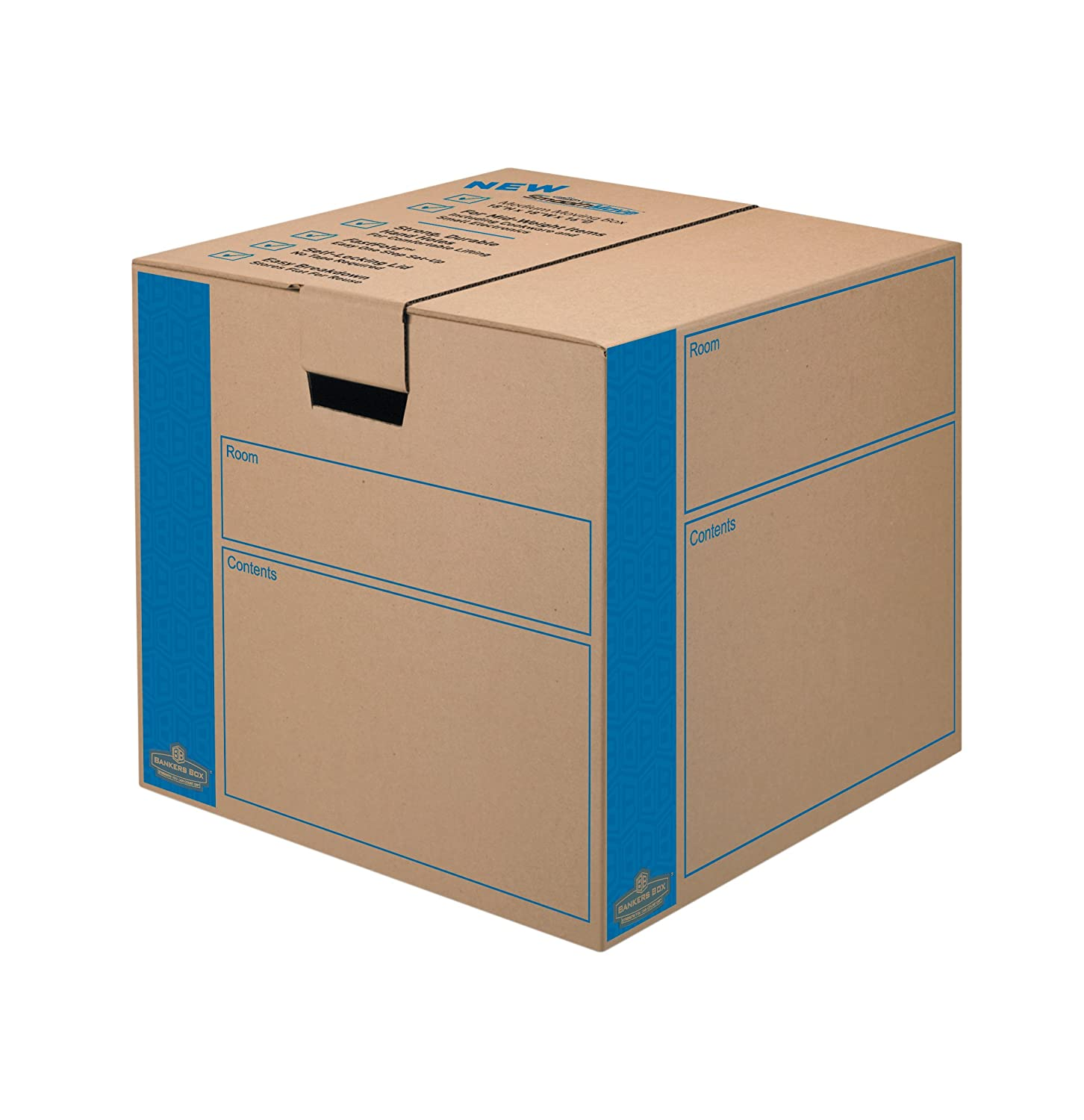 Bankers Box SmoothMove Moving and Storage Boxes, Small, 10 Pack: