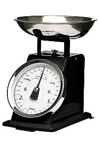 Premier Housewares - Bascula retro - 3 kilos de color negro   Más información y revisión del cliente