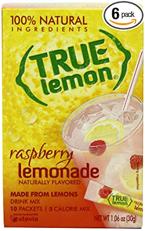 True Lemon Raspberry Lemonade Drink Mix, 10-count (Pack of 6)