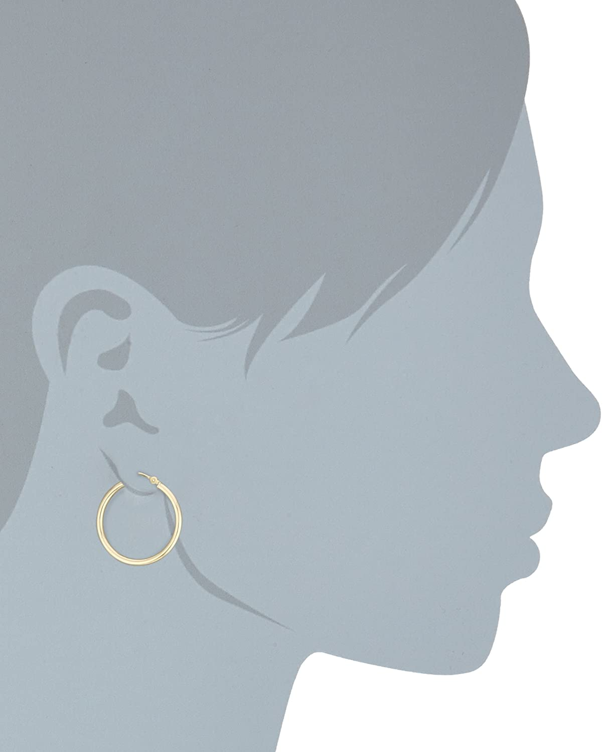 Duragold 14k Gold Hoop Earrings (1 Diameter)