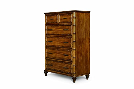 MagnussenB1469 Palm BayToffee Finish with Gun Metal HardwareWood 5 Drawer Chest