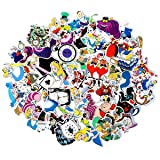 Alice in Wonderland Waterproof Stickers/Decals (70 pcs) of American Cartoon for Laptop Skateboard Snowboard Water Bottle Phone Car Bicycle Luggage Guitar Computer PS4(Alice) (Color: Alice)