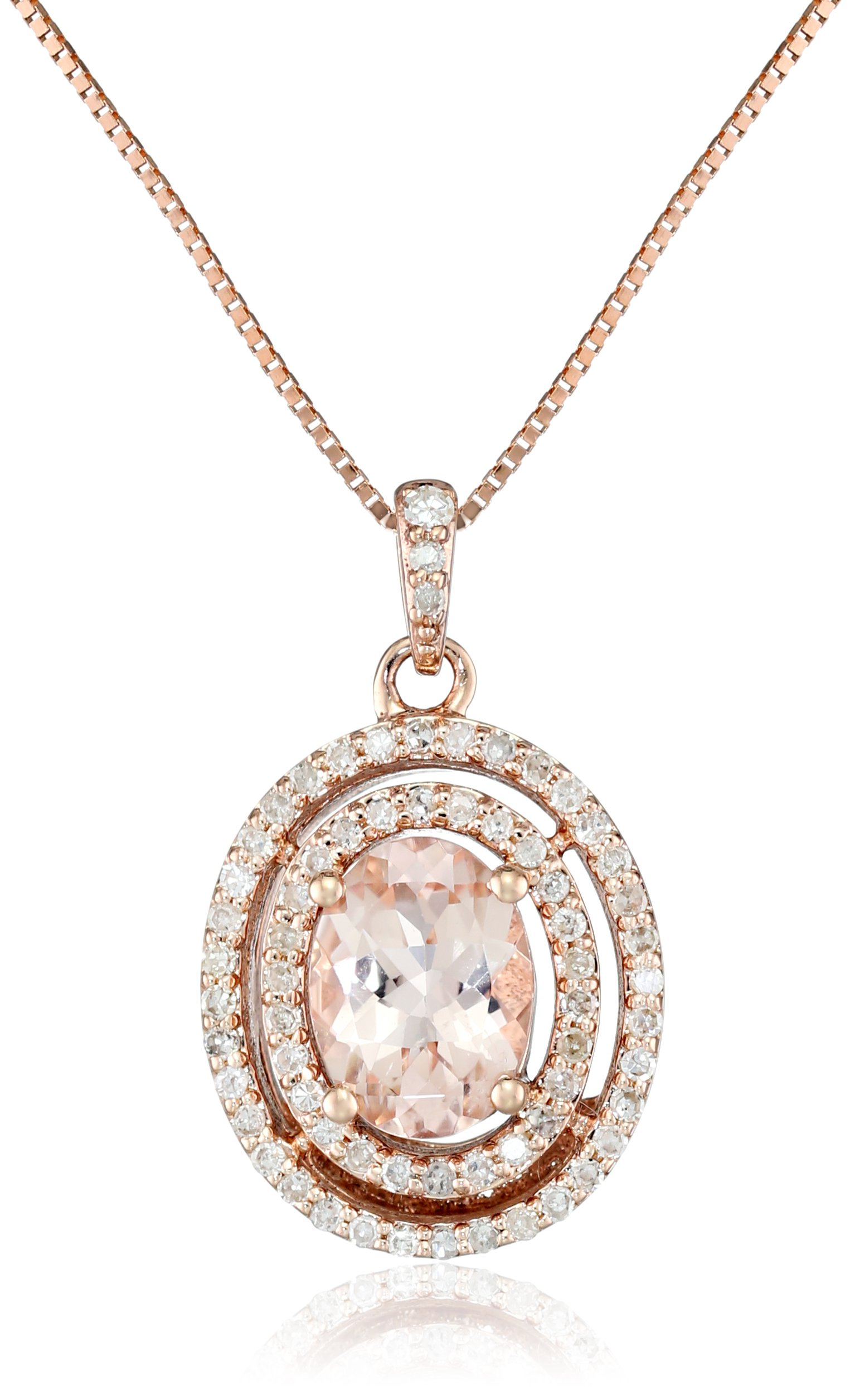 Morganite and Diamond Pendant Necklace image