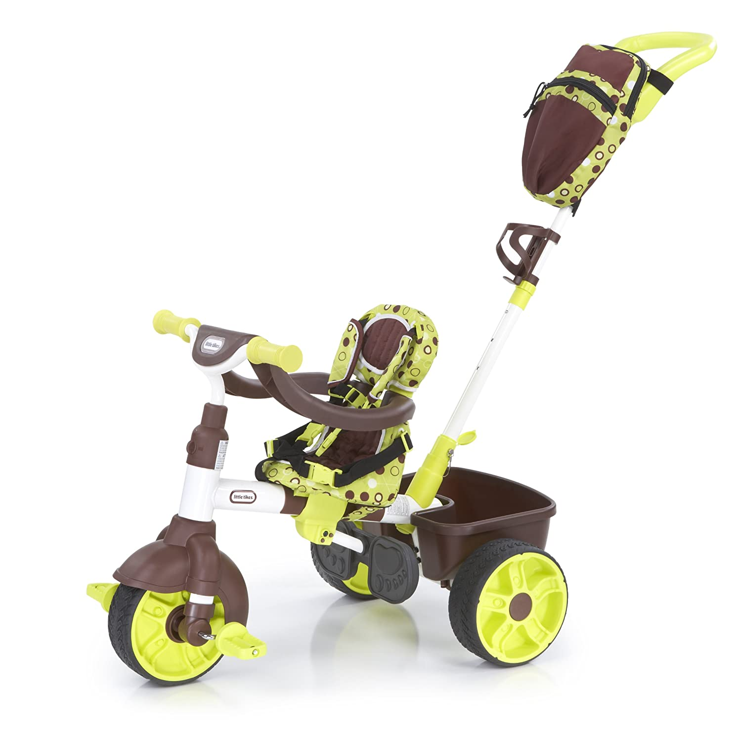 An Image of Little Tikes 4-in-1 Green Deluxe Edition Trike