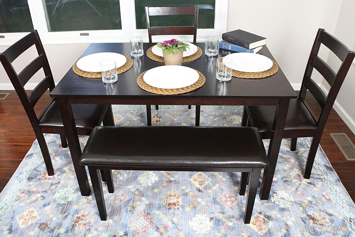 4 Person 5 Piece Kitchen Dining Table Set 1 Table 3