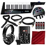 Alesis Vortex Wireless 2 USB/MIDI Keytar Controller with PreSonus HD9 Headphones, Rechargeable Battery Kit, and Deluxe Accessory Bundle
