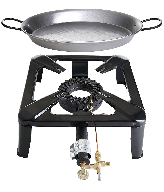 Paella World International Gaskocher Hockerkocher-Set 4 mit Paella-Pfanne, Mehrfarbig, 2-teilig kaufen