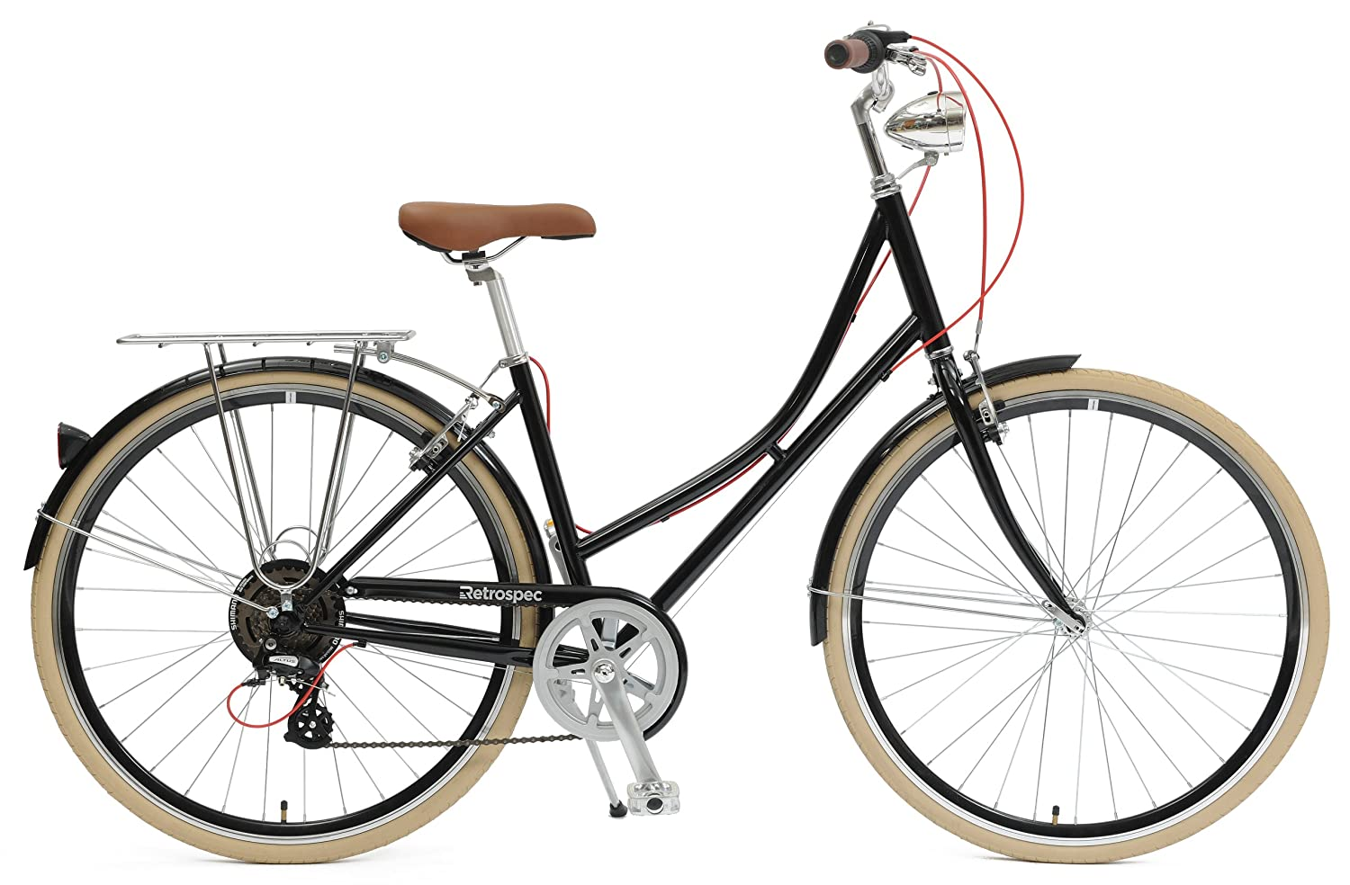 The Retrospec bicycles step-thru sid-7 dutch style hybrid