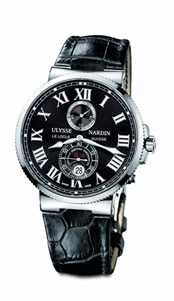 Ulysse Nardin Maxi Marine Chronometer Steel Black Mens Watch 263-67-42