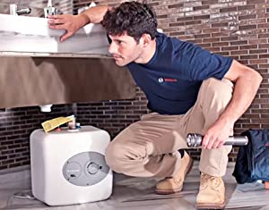 Bosch Electric Mini-Tank Water Heater Tronic 3000 T 7-Gallon (ES8)  - Eliminate Time for Hot Water - Shelf, Wall or Floor Mounted (Tamaño: 7-Gallon)