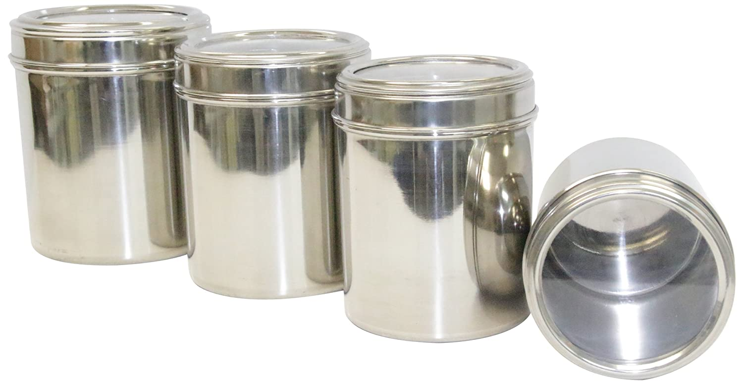 Tabakh Signature Series 4 Piece Stainless Steel Canister
