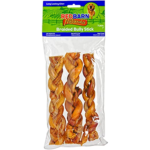 redbarn naturals braided bully stick for dogs ark pet. Black Bedroom Furniture Sets. Home Design Ideas
