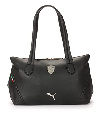 Puma Ferrari Ls Shoulder Hand Bag Boston Bag In White 16