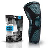 PowerLix Compression Knee Sleeve - Best Knee Brace for Meniscus Tear, Arthritis, Quick Recovery etc. – Knee Support For Running, CrossFit, Basketball and other Sports, XL (Color: Blue, Tamaño: X-Large)