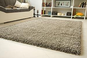 Shaggy Hochflor Teppich Funny Luxus  Sofort lieferbar  grau, Größe 140x200 cm   Bewertungen und Beschreibung