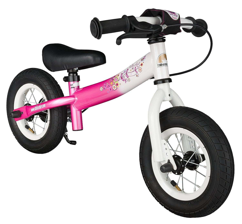 BIKESTAR® Premium Sicherheits-Kinderlaufrad für kleine Abenteurer ab 2 Jahren ★ 10er Sport Edition ★ Flamingo Pink & Diamant Weiß als Weihnachtsgeschenk