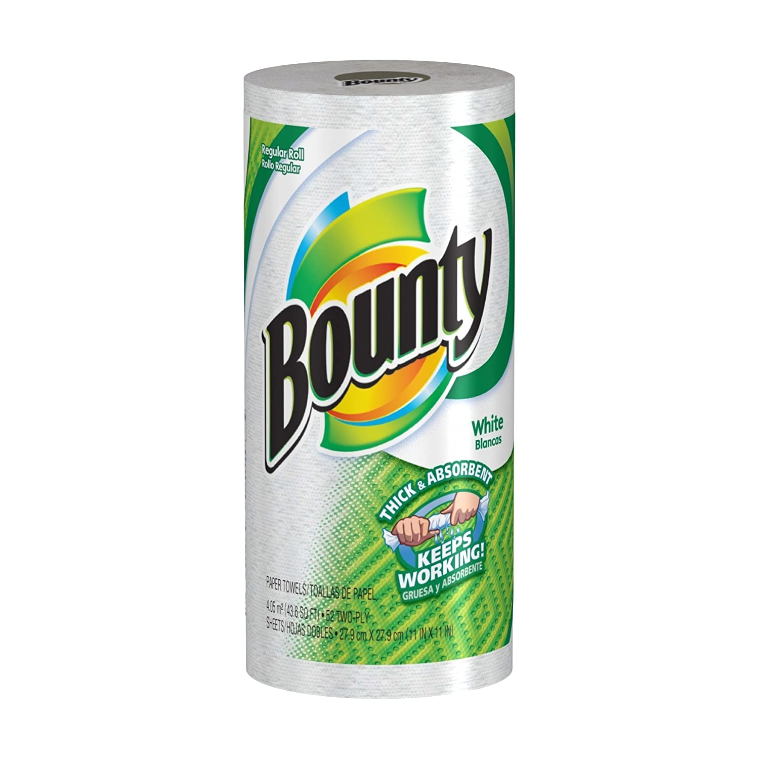 Bounty paper towels are 2X more absorbent, so you can use less! And the best part is Bounty select-a-size sheets allow you to control just how much you use, depending on the size of the mess! Choose the paper towel you can count on: Bounty, the quicker picker upper.