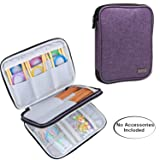 Luxja Knitting Needles Case(up to 8 Inches), Travel Organizer Storage Bag for Circular Needles, 8 Inches Knitting Needles and Other Accessories(NO Accessories Included), Purple (Color: Purple, Tamaño: 8.5