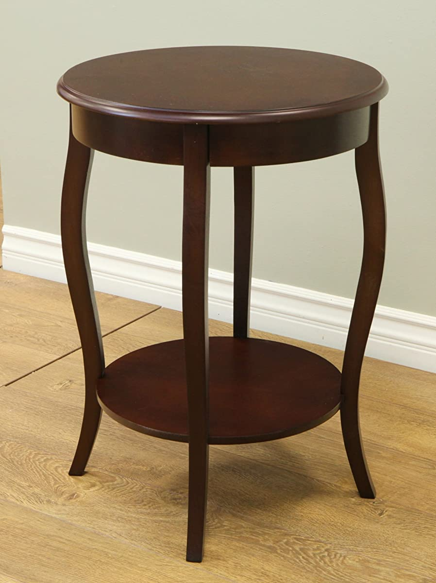 "Frenchi Home Furnishing Walnut Round Accent Table, 18"" …"