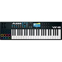 Alesis VX49 49-Key USB/MIDI Keyboard & Drum Pad Controller with Full-Color Screen
