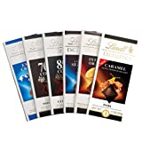 Lindt Excellence Chocolate Bar Assortment Pack, 6 Count (Tamaño: Pack of 6)