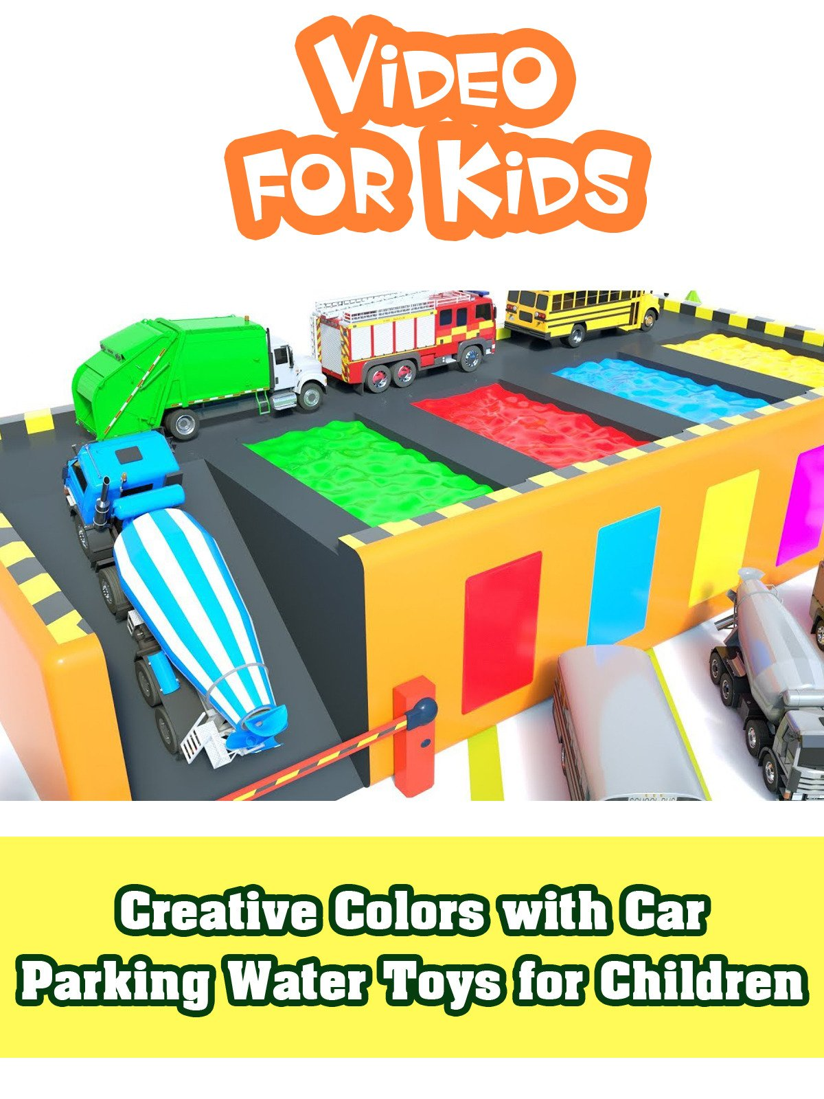 Creative Colors with Car Parking Water Toys for Children
