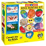 Creativity for Kids Hide and Seek Rock Painting Kit - Spread Kindness and Customize 10 Rocks (Color: Multicolor)
