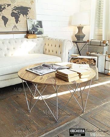 Mesa centro brooklyn madera palisandro y acero