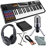M-Audio Code 49 49-Key USB-MIDI Keyboard Controller with X/Y Touch Pad and Platinum Bundle w/ Samson Meteor USB Mic + Closed-Back Headphones + Much More