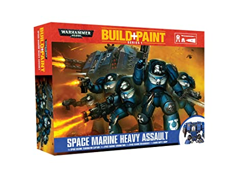 Warhammer 40'000 - 00080 - Maquettes de Figurines -  Space Marine Heavy Assault