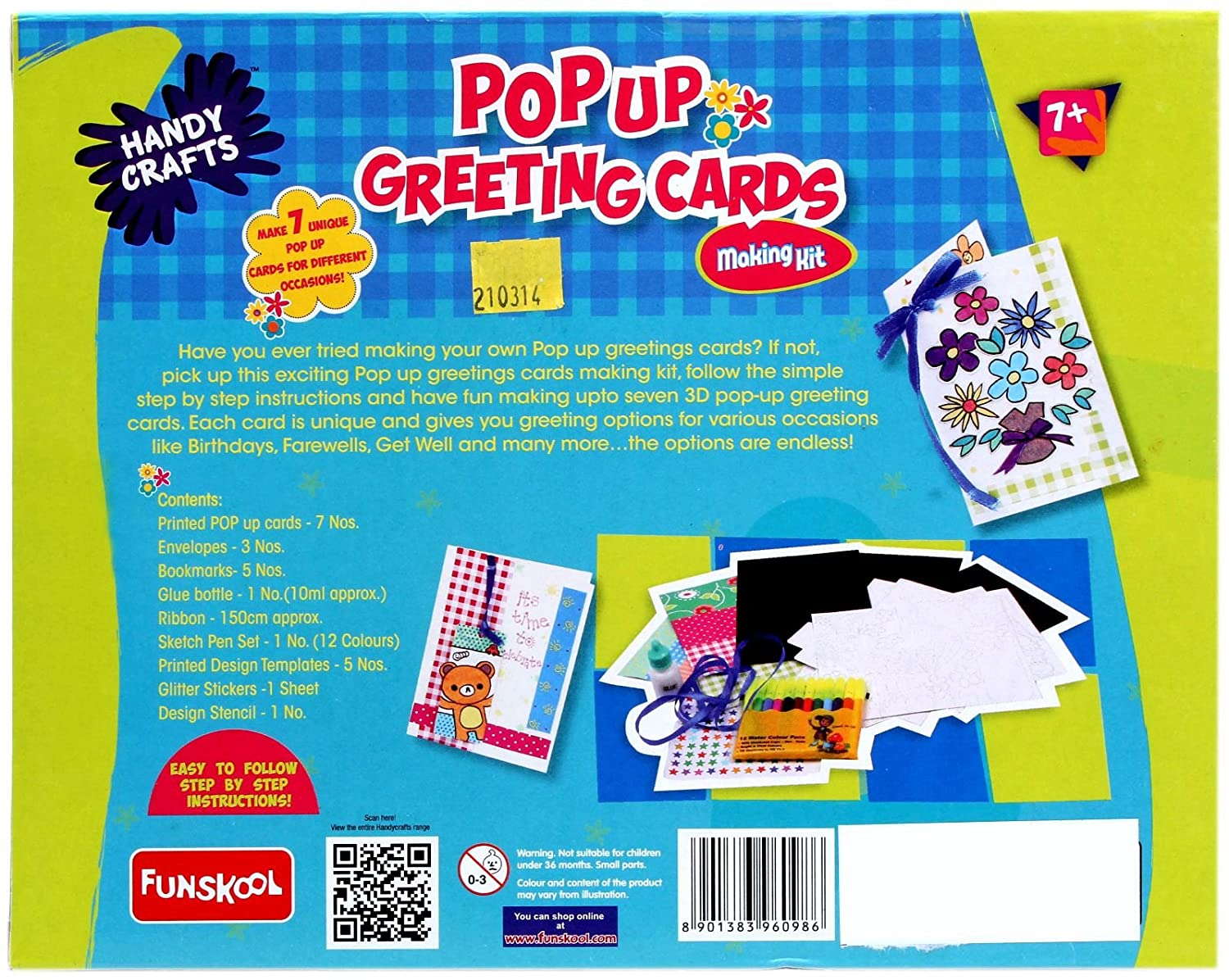 Color your card get well - Handy Crafts Pop Up Greeting Cards Multi Color Amazon In Toys Games