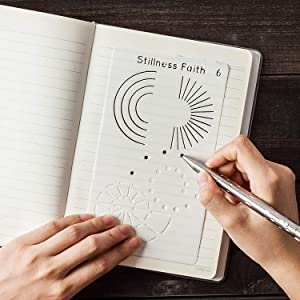 Stillness Faith Set of 10 Letter Stencils For Use On Your Dotted Notebook, Planner Stickers and Accessories, Scrapbook Supplies and Bible Journaling Supplies