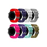 HandyGear Sport Band Compatible Gear S3 Frontier Classic Galaxy Watch 46mm Smart Watch, 22mm Soft Silicone Sports Replacement Strap Samsung Gear S3 Frontier Classic (S3 8Pack Group 2) (Color: S3 8Pack Group 2)