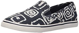 Lauren Ralph Lauren Women's Janis Fashion Sneaker, Modern Navy/White Batik Tribal, 9 B US