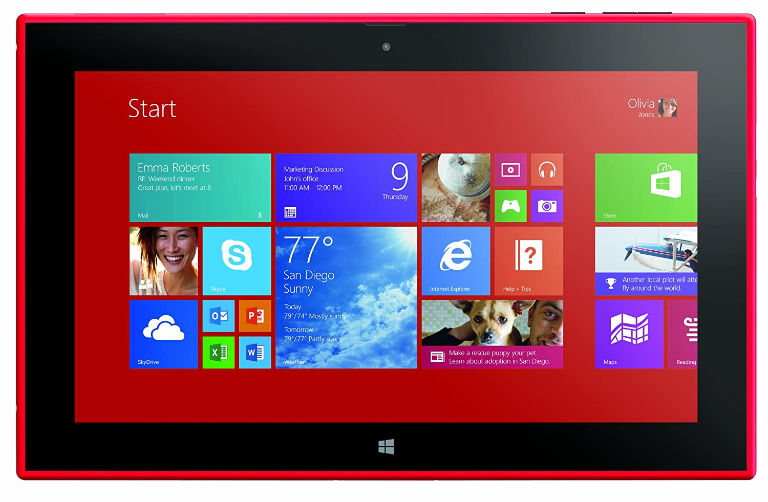 Nokia Lumia 2520 4G LTE Tablet, Red 10.1-Inch 32GB (Verizon Wireless)