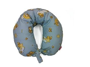 Cuscino Allattamento Pula Di Farro.Cuscino Allattamento Orsetto Azzurro Imbottito In Pula Di