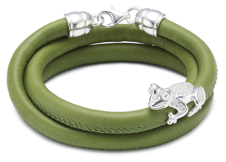 Heartbreaker Damen-Lederarmband Froggy mit Frosch 925 Sterling Silber 59 cm LD FG 83-10 günstig bestellen